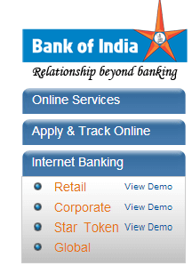 Bank of India account
