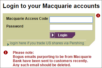 Macquarie login account