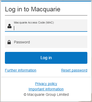 Login to Macquarie Bank