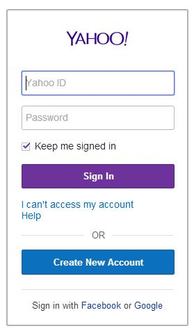 yahoo sign in