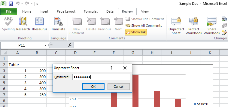 excel sheet password recovery