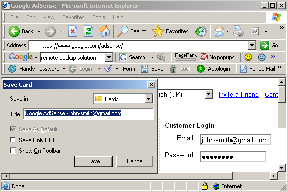 Google AdSense: login automatically
