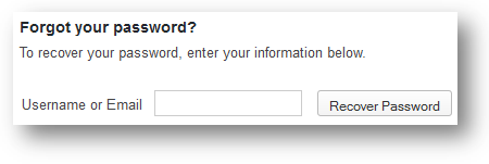 Wordpress Recover Password